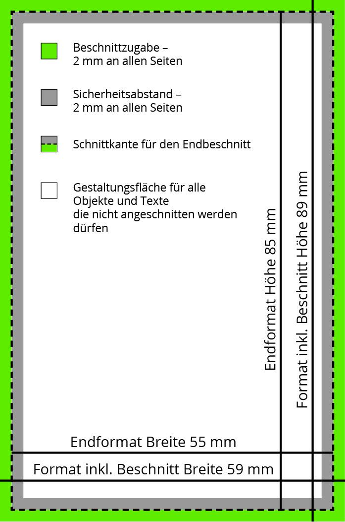 Visitenkarten 4 0 Farbig 85 X 55 Mm